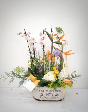 La Pérgola Día de la madre composición de flores orange