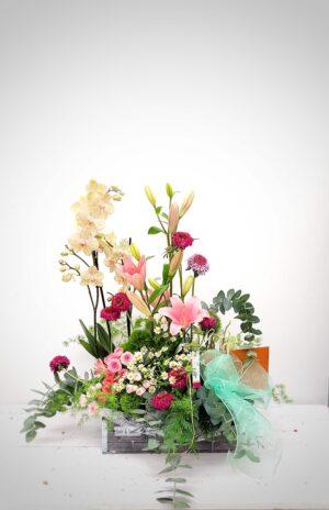 La Pérgola Día de la madre composición de flores pink